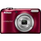 Nikon COOLPIX L29 Rosu + Incarcator + 2 acumulatori + Card 4GB + Husa