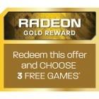 Bonus Radeon Gold Reward - 3 jocuri gratuite la alegere - cupon