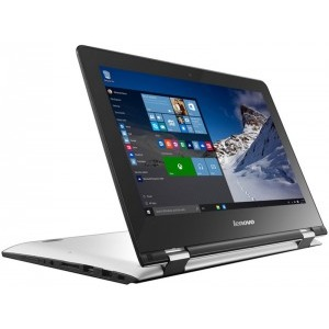 """Notebook / Laptop 2-in-1 Lenovo 11.6"""" Yoga 300-11 (Flex 3), HD Touch, Procesor Intel® Celeron® N3060 (2M Cache, up to 2.48 GHz), 4GB, 32GB eMMC, GMA HD 400, Win 10 Home, White"""