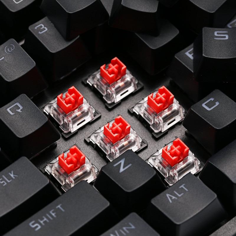 Tastatura Gaming Redragon Vishnu RGB Wireless Mecanica Red Switch 2