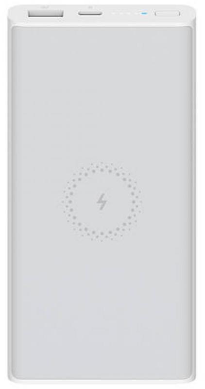 Baterie externa Xiaomi Mi Wireless Essential, 10000mAh, 1x USB-C, 1x USB, White, Qi Wireless