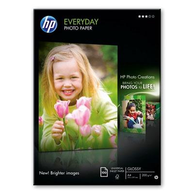 Hartie HP Everyday Glossy Photo A4 100 coli