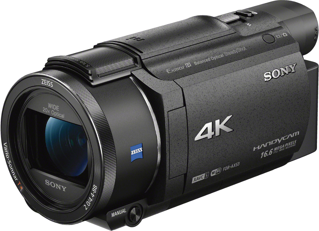 Camera video Sony FDR-AX53 4K Wi-fi, NFC