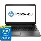 HP 15.6'' Probook 450 G2, HD, Procesor Intel® Core™ i3-4030U (3M Cache, 1.90 GHz), 4GB, 500GB, GMA HD 4400, FreeDos, Geanta inclusa