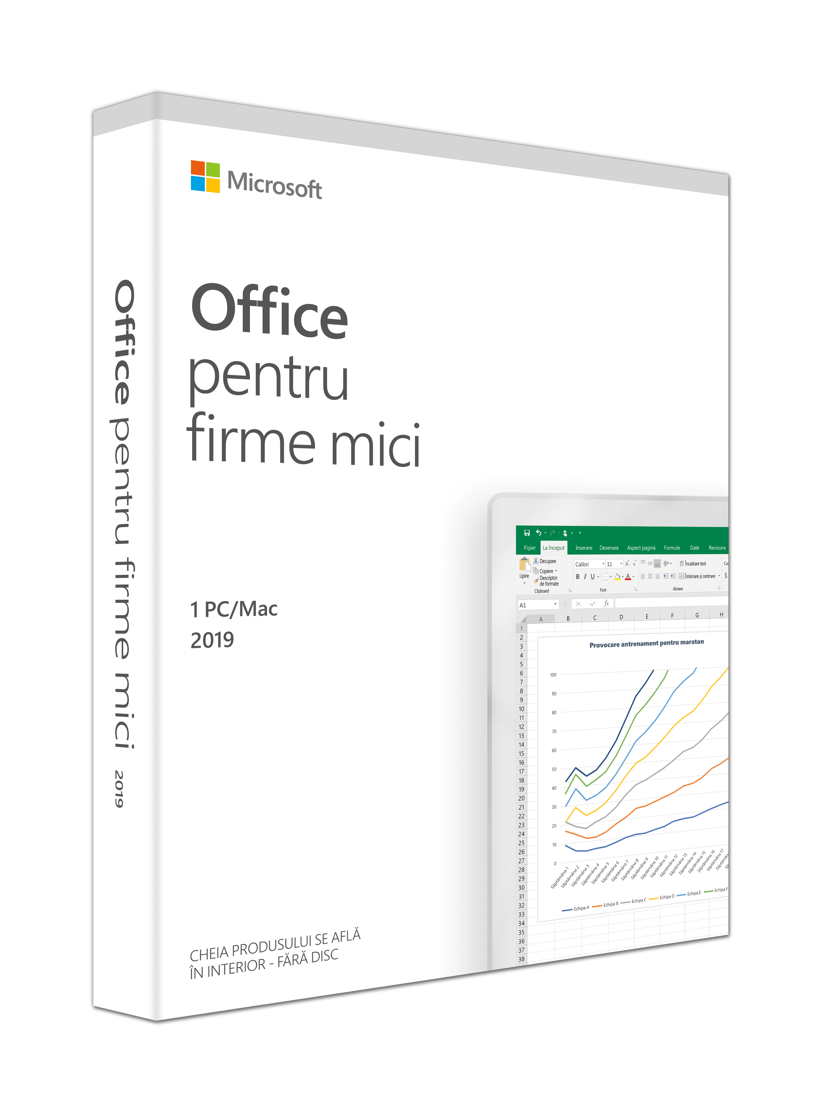 Aplicatie Microsoft Office Home and Business 2019 Engleza, 1 PC, Medialess Retail