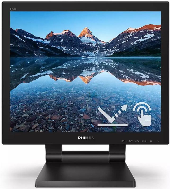 Monitor Touchscreen Philips 172B9TL 17 inch 1 ms Negru 60 Hz