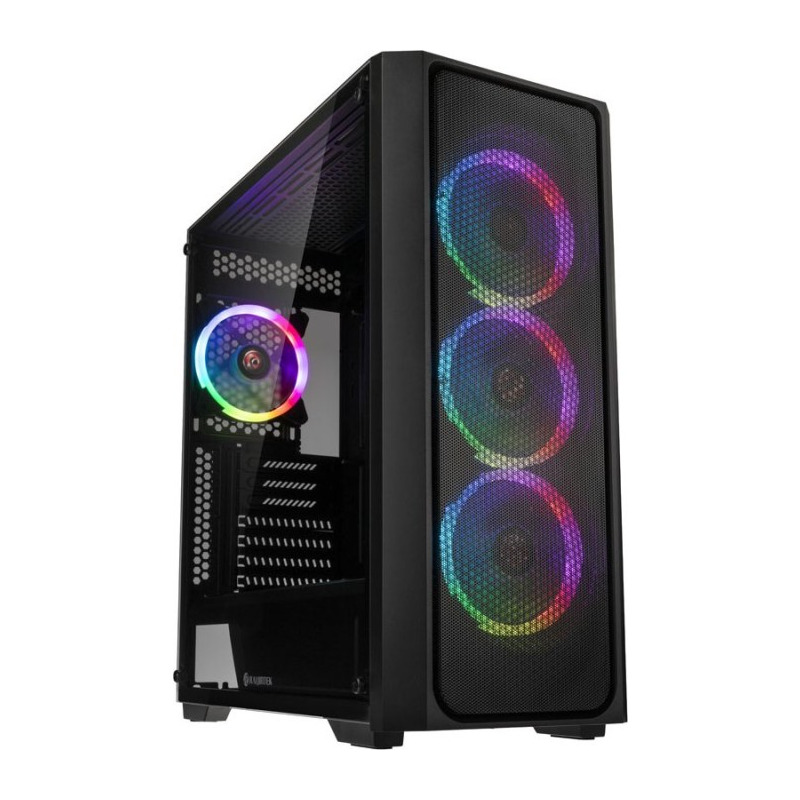 Carcasa Raijintek Ponos,mesh metalic, iluminare RGB, negru 0